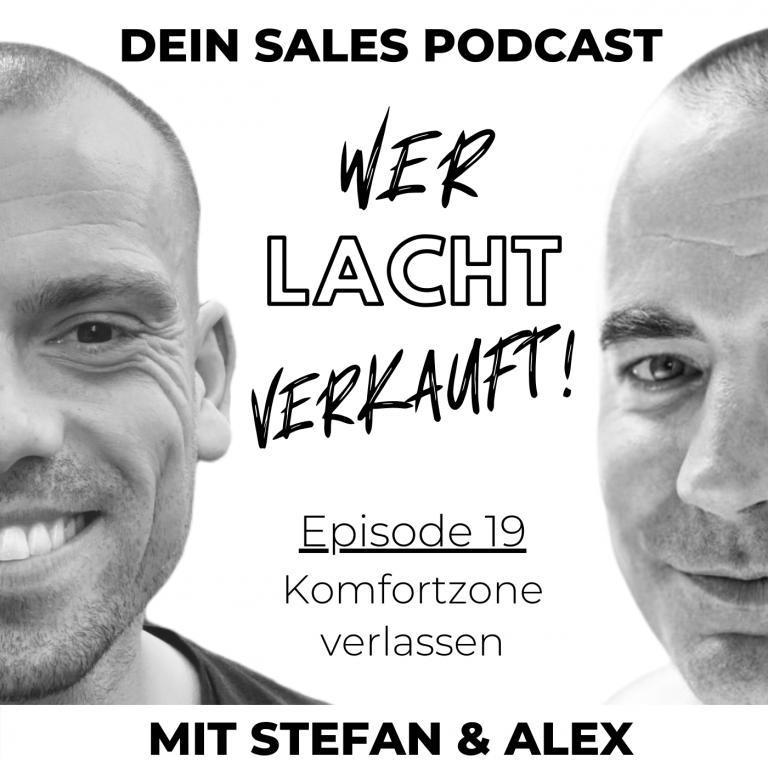 Cover der Podcastfolge zum Thema Komfortzone verlassen